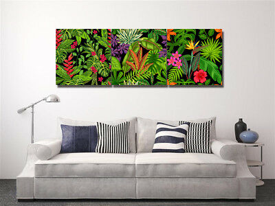 Canvas Print Wall Art Painting Pictures Decor Abstract Tropical Leaves No Frame
