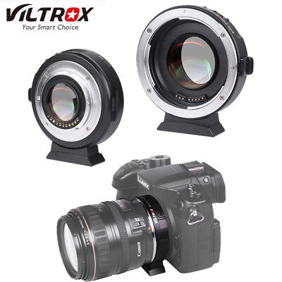 VILTROX EF-M2 Focal Reducer Booster Auto Focus Adapter Canon EF mount to M43 Cam