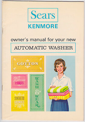 1966 Sears Roebuck and Co Kenmore Automatic Washer Owner's Manual Vintage