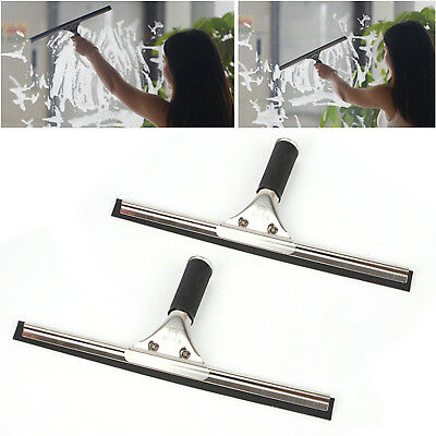 25 35cm Commercial Stainless Steel Squeegee Window Glass Blade Wiper Cleaner
