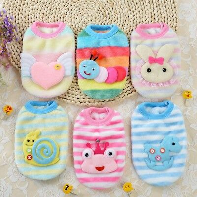 Cartoon Small Dog Teacup Chihuahua Clothes Pet Puppy Vest Apparel Warm Costumes
