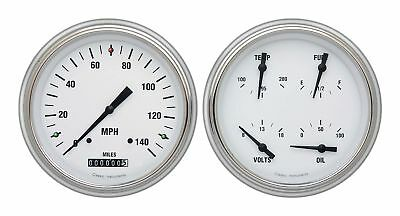 1951-1952 Chevrolet Chevy Direct Fit Gauge White Hot CH51WH52