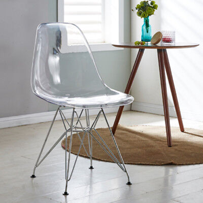 clear ghost chair eiffel style transparent steel chairs dinning