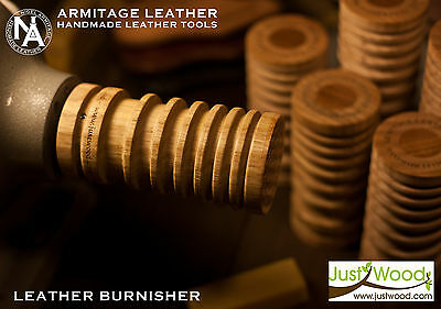 Armitage leather, JustWood Leather Burnisher Slicker tool craftsman edger wooden