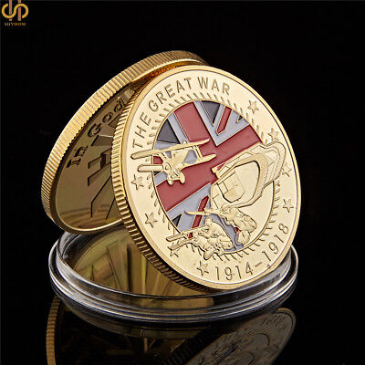 1914-1918 World War i The Great War 100th Anniversary Challenge Coin Collection