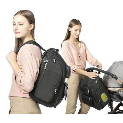 Baby Nappy Changing Stroller Bag Set Mummy Diaper Backpack Changing Mat ,24L