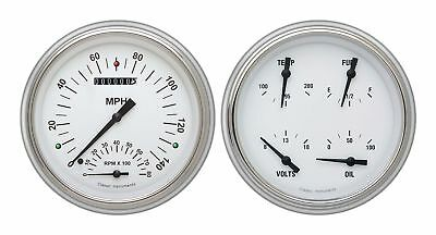 1951-1952 Chevrolet Chevy Direct Fit Gauge White Hot CH51WH62