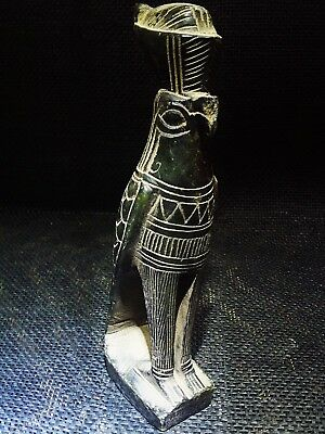 ANCIENT EGYPT EGYPTIAN ANTIQUE Horus Falcon Statue Figure Sculpture 664–525 BC