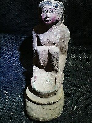 ANCIENT EGYPT EGYPTIAN ANTIQUE Squatting Woman Forms a Broad Bowl 2600–2400 BC
