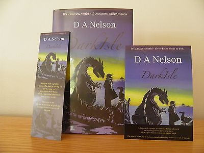 DARKISLE by D A NELSON ~ Signed 1st Edition Hardback 2007 ~ Postcard & Bookmark
