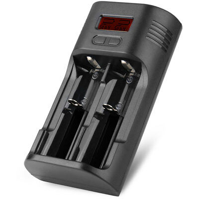 Soshine T2 Digital LCD 2 Slots Battery Charger EU Adapter for 18650 26650 16340