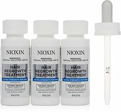 Nioxin Minoxidil 5% Hair Regrowth Treatment Extra Strength for Men, 6 Ounce
