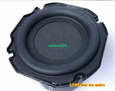 "1pcs 2.5""inch 4ohm 4Ω 80mm Long-stroke subwoofer Woofer speaker loudspeaker"