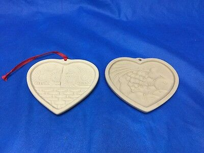 Lot 2 Pampered Chef Family Heritage Sunflower Basket & Heart Plenty Cookie Mold