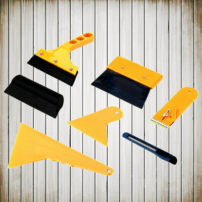 7in1 Squeegee Car Window Tinting Auto Film Install Wrapping Applicator Tools AS