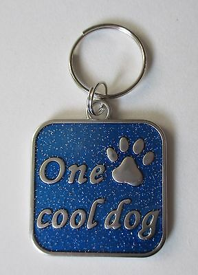 x One cool dog Engraveable DOG PET COLLAR CHARM ganz jewelry new paw print