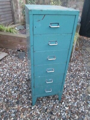 Vintage Retro Industrial 6 Draw Filing Cabinet Storage Office