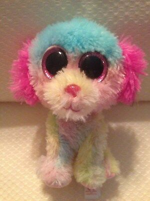 07c68006a46 Brand new with tags TY Beanie Boo Lovesy Rainbow Dog ~ Retired Justice  Exclusive