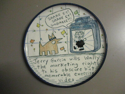 3 Rare Outsider Art Plates Wally Ware Tom Edwards Hard To Find Jerry Garcia