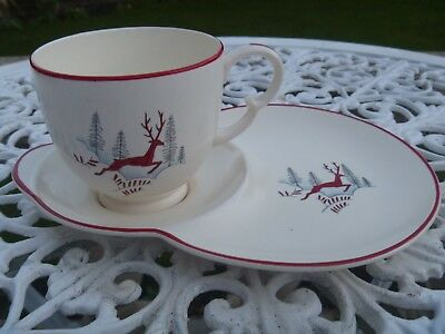Vintage S F & Co Crown Devon Fieldings Stockholm Tennis Cup & Saucer