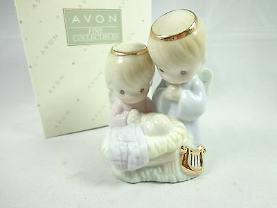 Vintage 1997 Precious Moments Porcelain Holy Family Ornament hand painted