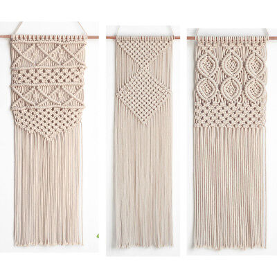 Retro Hand Knitted Cotton Macrame Handcraft Wall Hanging Bohemian Art Home Décor