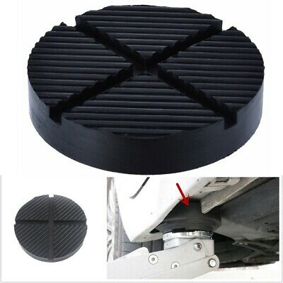 Rubber Cross Slotted Frame Rail Floor Jack Disk Pad Adapter Pinch Weld Side New