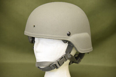 TBI Sensor Military USGI MSA ACH Advanced Combat Helmet Foliage Large ? (#18)