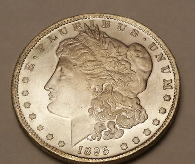 Two Sided 1895 Morgan Silver Dollar Coin Double Headed Trick Coin