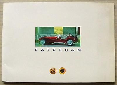 CATERHAM SUPER 7 & 21 Lotus Car Press Media Pack Brochure Oct 1996