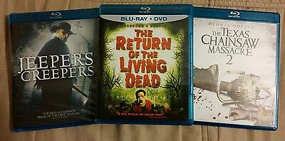 Return of the Living Dead, Jeepers Creepers, Texas Chainsaw Massacre 2 Blu-rays
