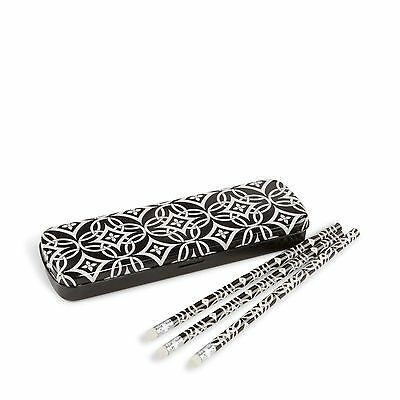 NWT Vera Bradley Pencil Set with Tin in Concerto 13806 342 BC