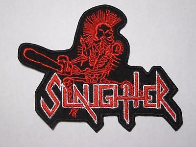 SLAUGHTER logo embroidered NEW patch thrash death metal