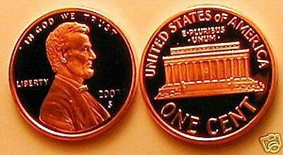 2003 S  Lincoln Memorial Cent Gem Proof  Penny Disappearing 3 Error