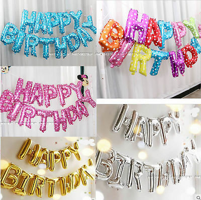 Giant Happy Birthday Self Inflating Balloon Banner Bunting Party Decoration Uk