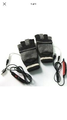 Usb Heated Gloves unisex black/gray one size fits most