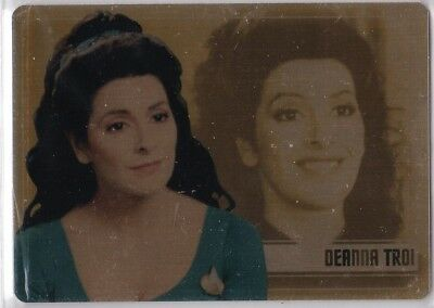 Star Trek Women Of 50Th Anniversary Gold Metal Ws6 Marina Sirtis As Deanna Troi