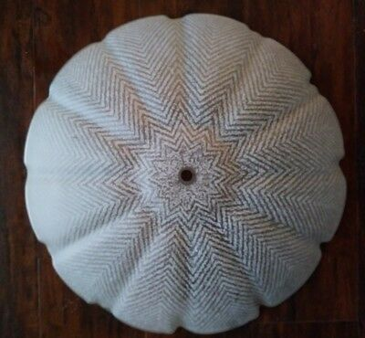 """Vintage Frosted White Glass Ceiling Light Shade Dome Fixture 15"""""""