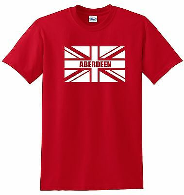 Aberdeen Fans Themed Union Jack Style T-Shirt All Sizes