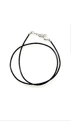 """18""""- 20"""" Black Leather Wax Rope Choker Necklace Chain Gothic, Men,Woman. Skater."""