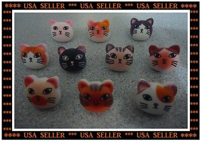 Cat Face Push Pins Thumb Tacks Holds Photos Notes Messages sweet gift Cat Lover