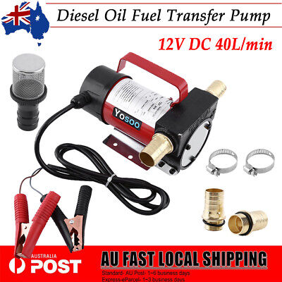 12V DC Electric Fuel Oil Diesel Transfer Pump Station 40Lpm Vehicle Self-priming