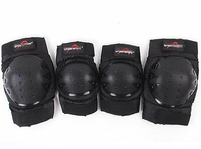 4pcs Elbow Knee Pads Guards Gear Skateboard Skate Scooter Cycling Protection AU
