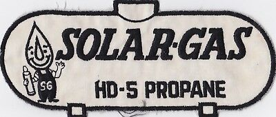 vintage LARGE Solar-Gas HD-5 Propane back jacket Patch