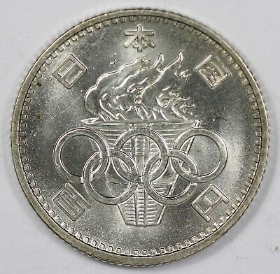 Japan 1964 'Olympic' Silver 100 Yen, Lustrous Uncirculated