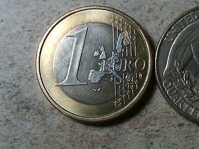 Germany 1 euro 2002 J  bi-metallic unc