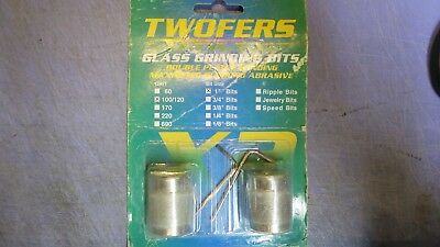 """1 pack of 2, 1"""" Aanraku Twofers Diamond Glass Grinding Bits 100/120 Grit Stained"""