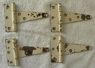 4 Vintage Barn, Shed, Cabin Old Paint Heavy Duty T- Hinges