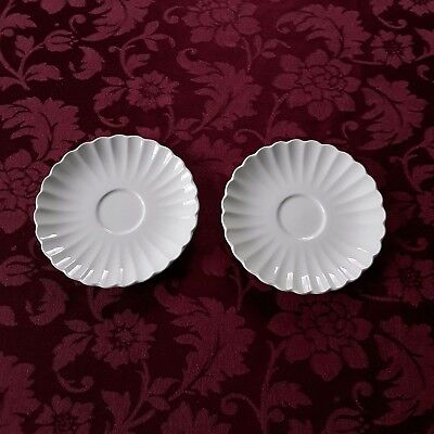J & G Meakin England Classic White Ironstone - Lot of 2 Saucers