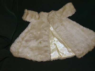 Vintage 1950s Madame Alexander Cissy Doll Tagged Fur COAT